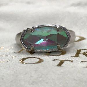 Kendra Scott Silver Dichroic Glass Ring